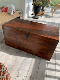 Walnut coffee table and storage chest
