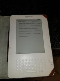 white e-book reader with flip case