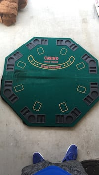 green and black poker table