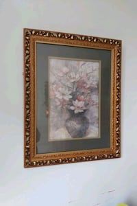 potted flowers with golden frame  Brampton, L6T 3Y1