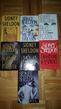 SIDNEY SHELDON HARD COVER BOOKS Pointe-Claire, H9R 4Y8