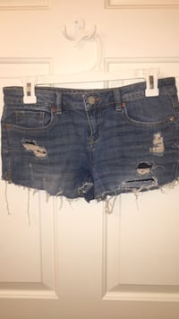 blue denim distressed short shorts Damascus, 20872