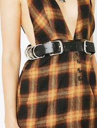 Vegan leather Buckle bunny belt