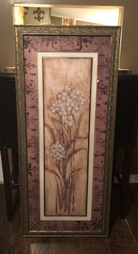 brown and white floral painting Clermont, 34715