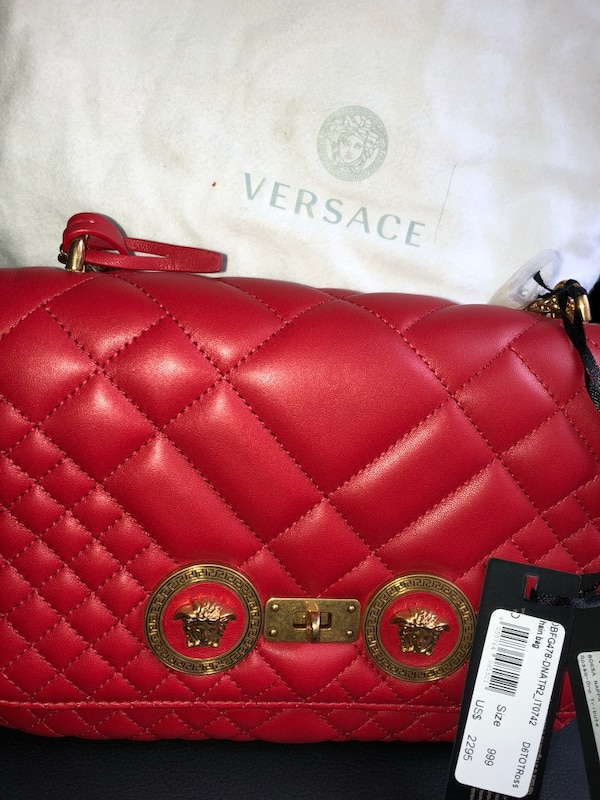 Used Red leather chanel sling bag for sale in New York - letgo 2a4d2438c838b