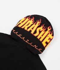 black and yellow Thrasher textile