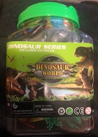 HUGE DINOSAUR PLAYSET 51 PIECES! CARRYING CASE PLAYMAT REALISTIC DINOS