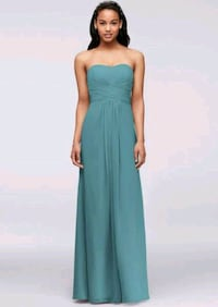 women's teal sleeveless dress Burke, 22015