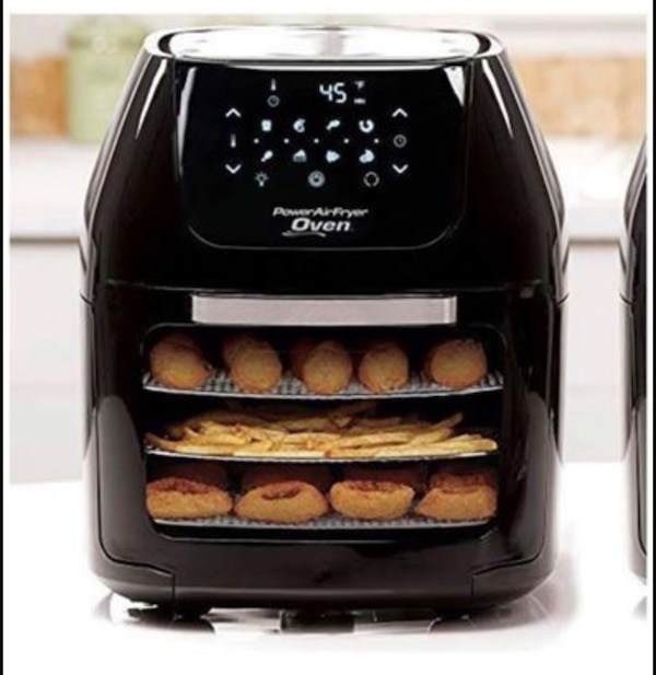 6 QT Power Air Fryer Oven With- 7 in 1 Cooking Features with Professional  Dehydrator and Rotisserie