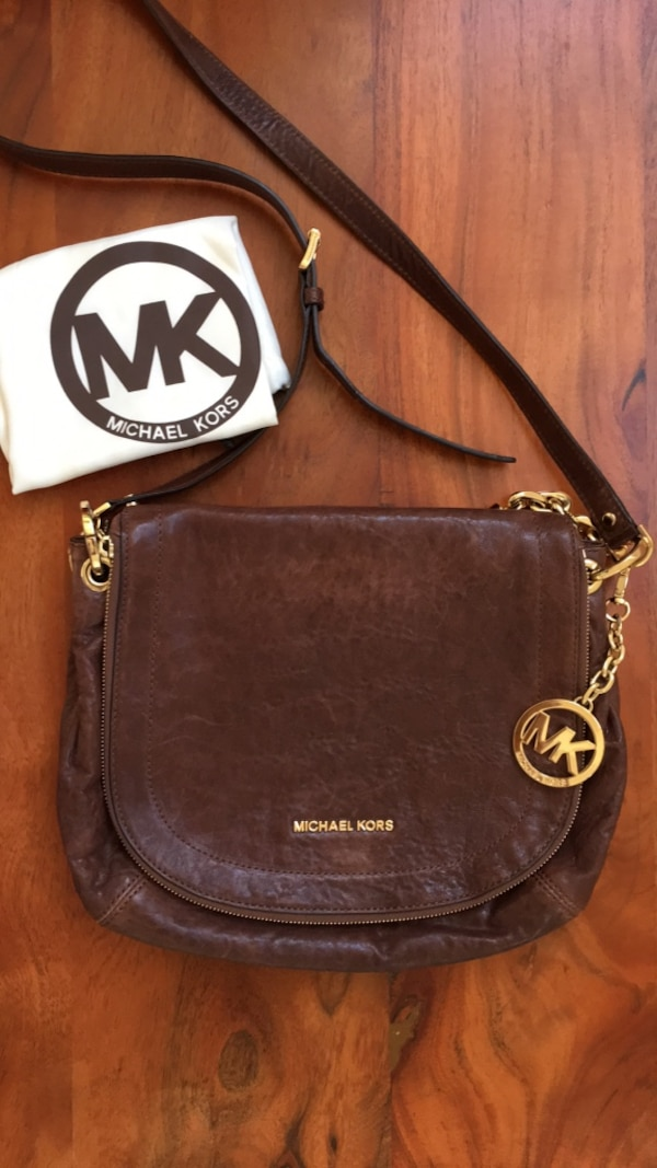 698711c80b Michael Kors  Mocha Leather Messenger Bag. HomeFashion and Accessories San  Leandro