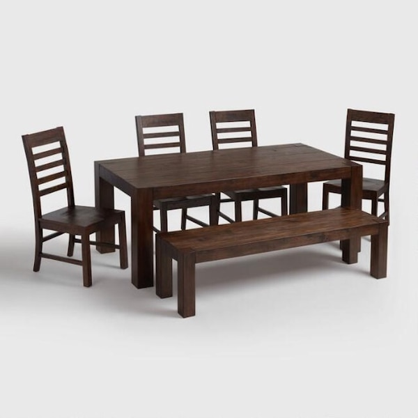Used World Market Dining Room Table Bench And Chairs For Sale In San Francisco