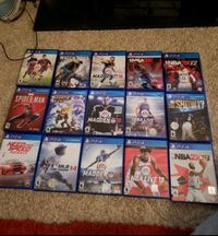 assorted Sony PS4 game case lot Mesquite, 75150