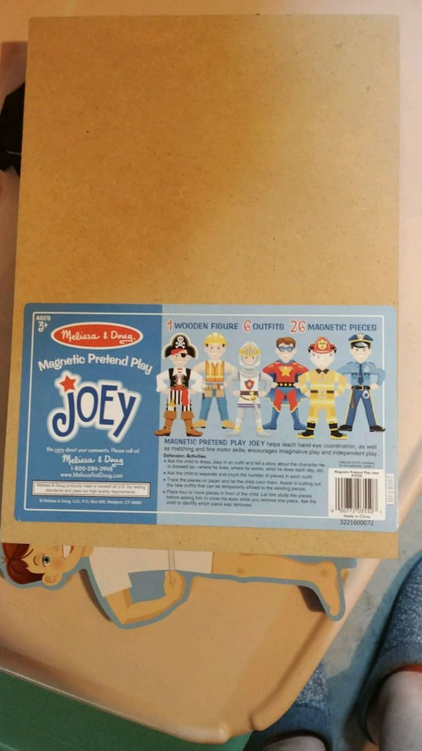 Melissa & Doug magnetic pretend play Joey wooden Figure 6 outfits 118f8c61-4b2f-4679-995c-cb58dda0865c