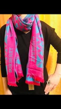 Burberry scarf in pink and blue shade Saskatoon