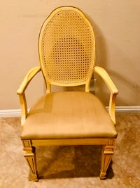 "Cream French Wood Accent Dining Chair w/ Nice Wicker Back 22"" x 20"" x 39""tall Las Vegas, 89131"