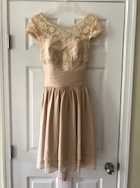Champagne Cocktail/Bridesmaid Dress - Size 2