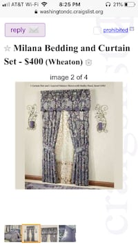 Milana Bedding and Curtain Set - $400 (Wheaton)