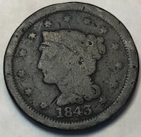 1843 Braided Hair Large Cent Baltimore, 21206