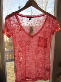 Brand New SWS Semi Sheer Low Plunge Tee - Large Winnipeg