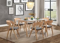 [MONTHLY SPECIAL] Misa Natural/White Dining Set Houston