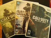 3 Call of Duty games for Nintendo Wii  Vaughan, L4L