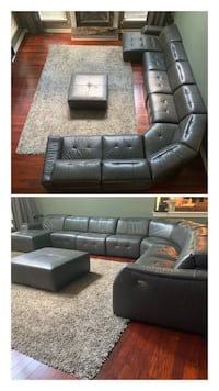 Macy's genuine leather power reclining sectional with Ottoman* Price reduced Philadelphia, 08088