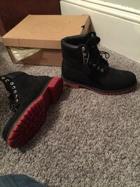 Red Bottom Timberland boots size 9