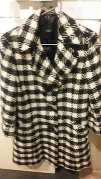 black and white houndstooth suit jacket