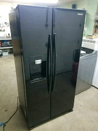 black Samsung side-by-side refrigerator with dispe Westland, 48185