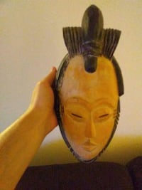brown and black wooden Geisha mask London, N6A 2T7