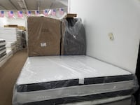 King size jumbo double pillowtop set with boxspring