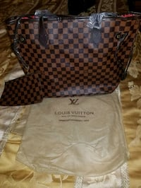 Damier Ebene Louis Vuitton leather tote bag Hialeah, 33018