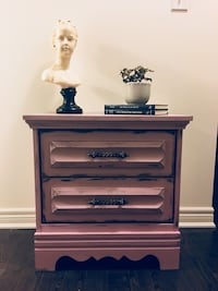 Pink wooden nightstand