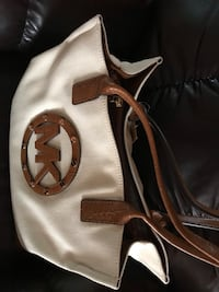 white and brown leather handbag Henderson, 89012