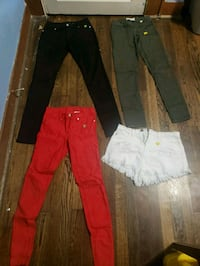 women's black and red pants Houston, 77026