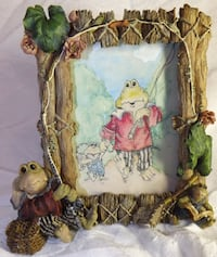 Boyds Wee Folkstone Frogs Frogmorton & Tad Fly Fishing Frame