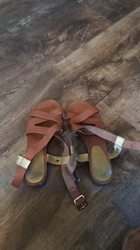 pair of brown leather open-toe sandals Murrells Inlet, 29576