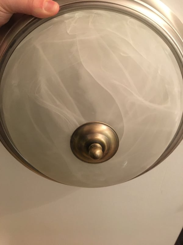 """3 for $20 ONLY Ceiling light Fixtures Silver 13"""" diameter fe07a3a4-3809-4a0a-b67c-f5813d38c835"""