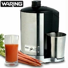 stainless steel Waring pro juice extractor