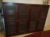 BOOKCASE wood/brass see through doors Barrister's bookcase Houston, 77095