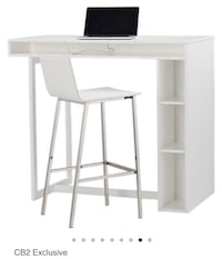 White wooden single pedestal desk Washington, 20009