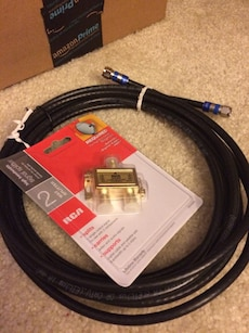 New RCA signal splitter & 10ft coax cable