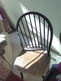 black and brown wooden windsor chair