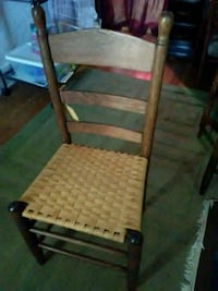 Antique chair with splint seat