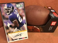 2017 NY Giants Landon Collins Autographed Photo And Paul Perkins Autographed Football Oyster Bay, 11758