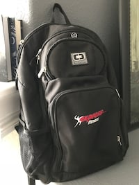 black and red Air Jordan backpack Hayward