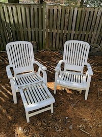 Plastic patio chairs (2)
