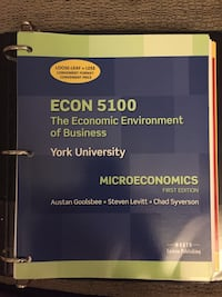 Economics Textbooks - Micro and Macro  Toronto, M4Y 2W7