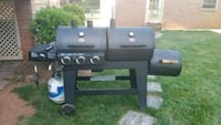 Char griller duel side grill with propane tank