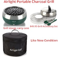 Airlight Portable Charcoal Grill + Bag + Accessories Lanham